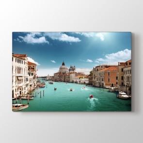 Venedik Suları - Şehir Resimli Kanvas Tablo Modeli