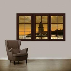 Evim Kız Kulesi Manzaralı Duvar Kağıdı Önizleme