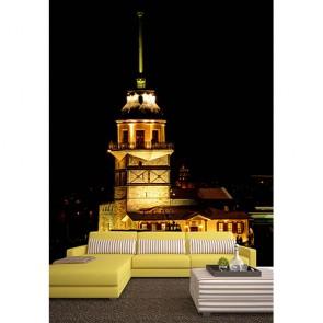 Kız Kulesinde Akşam - Üç Boyutlu Duvar Kağıtları