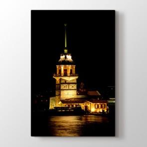 Kız Kulesinde Akşam - Şehir Dekoratif Duvar Tablosu