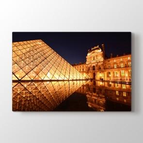 Louvre Piramidi - Şehir Resimli Kanvas Tablo Modeli