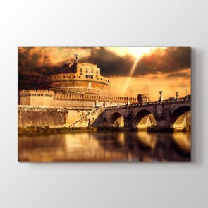 Roma Hayali - Şehir Duvar Dekor Kanvas Tablo