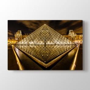 Paris Louvre Piramidi - Şehir Duvar Dekoru Kanvas Tablo