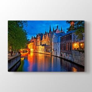 Amsterdam - Şehir Duvar Dekor Kanvas Tablo