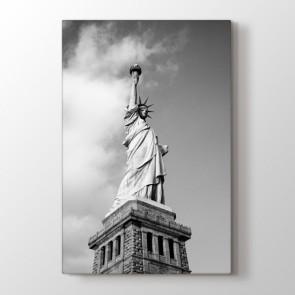 Siyah Beyaz Özgürlük Heykeli Tablosu | Siyah Beyaz Tablo