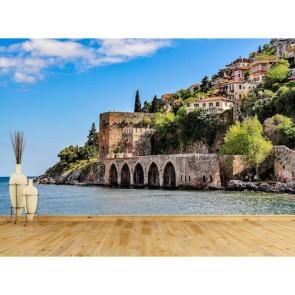 Alanya Eski Gemi Tersanesi Resimli Manzara Duvar Kağıdı