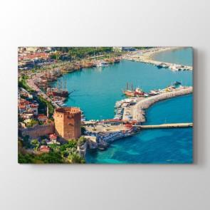 Alanya Marina ve Kızıl Kule Tablosu | Türkiyeden Tablolar