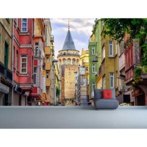 Ara Sokaktan Galata Kulesi Resimli Manzara Duvar Kağıdı