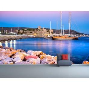 Bodrum Marina 3 Boyutlu Duvar Kağıdı