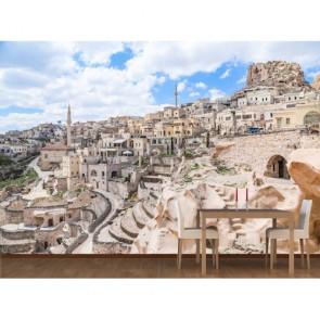 Kapadokya Antik Kenti 3 Boyutlu Resimli Duvar Kağıdı