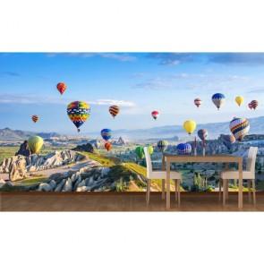 Kapadokya Balonları 3 Boyutlu Duvar Kağıdı