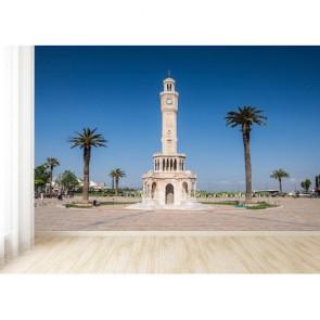 İzmir Saat Kulesi 3 Boyutlu Duvar Kağıdı