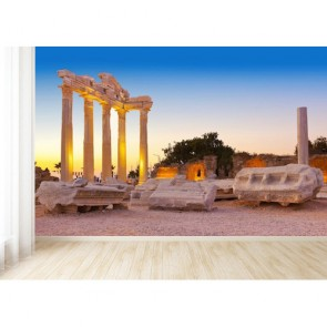 Manavgat Antalya Harabeleri 3 Boyutlu Manzara Resimli Duvar Kağıdı
