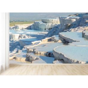 Pamukkale Denizli 3D Duvar Kağıdı