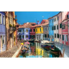 Renkli Venedik Evleri