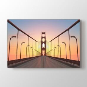 Köprünün Üstünde Tablosu | Manzara Resimli Tablolar