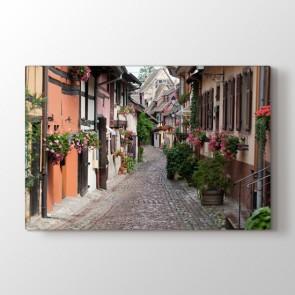 Çiçekli Sokak Tablosu | Manzara Tabloları