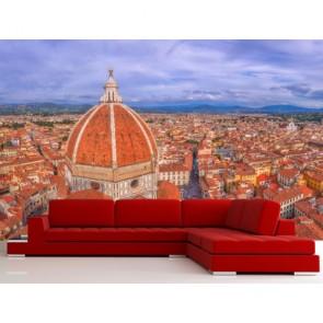 Floransa Çatıları - Şehir Manzaralı Duvar Kağıtları