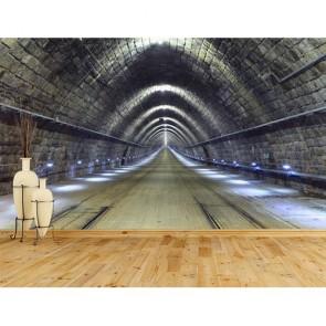 Tren Tüneli - Derinlik Katan 3D Duvar Kağıdı