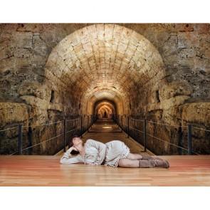 Derin Tünel Köprüsü - Derinlik Katan 3 Boyutlu Duvar Kağıdı Modeli Uygulama