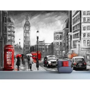 Londra Çizimi - 3D Duvar Kağıdı Uygulama