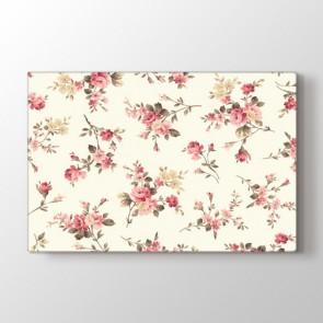 Retro Çiçekler Tablosu | Modern Çiçek Tabloları