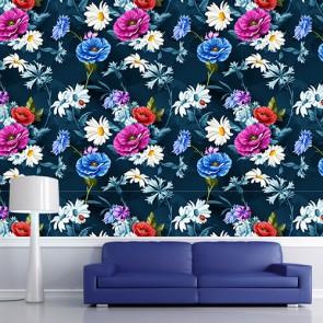 Uğurlu Çiçekler 3 Boyutlu Çiçek Desenli Çiçekli Duvar Kağıdı