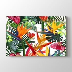 Tropikal Çiçek Deseni Tablosu | Çiçekli Tablolar