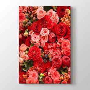 Güllerin Ahengi Tablosu | Modern Çiçek Tabloları