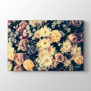 Nostaljik Çiçekleri Tablosu | Çiçek Desenli Tablolar