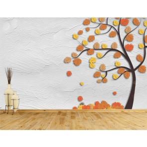 Sonbahar Sanatı - 3D Duvar Kağıdı Uygulama