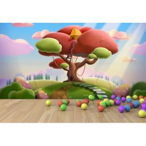 Perili Ağaç 3 Boyutlu Duvar Kağıdı