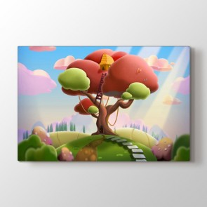 Perili Ağaç Tablosu | Çocuk Odası Tablo