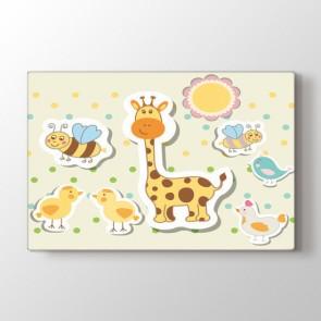 Tatlı Hayvanlar Tablosu | Bebek Odası Tabloları