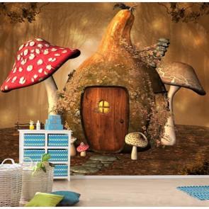 Kabak Evi Çocuk ve Bebek Odası Duvar Kağıdı