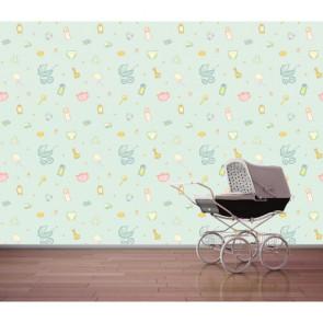 Bebek Odası Kreş 3 Boyutlu Duvar Kağıdı