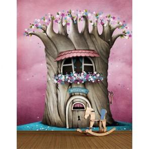 Hoşgeldin Melek Bebek Odası Duvar Kağıdı Modeli