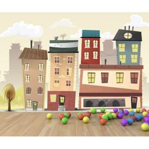 Anaokulu Mahallesi - Anaokulu ve Kreş için 3D Duvar Kağıdı