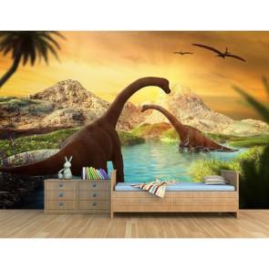 Dinozor Devri 3D Duvar Kağıdı Modeli