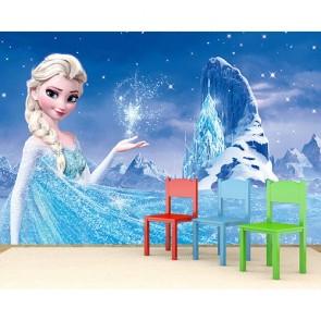 Elsa ve Kristal Şato Duvar Kağıdı Modeli