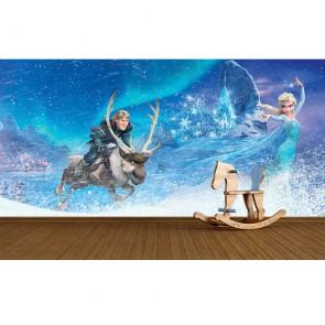 Elsa ve Masal Diyarı Çocuk Odası Duvar Kağıdı Modeli