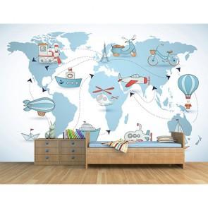 Çocuk Odası Balon Turu 3 Boyutlu Bebek Odası Duvar Kağıdı Modeli Uygulama