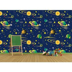 Renkli Uzay Cisimleri - Çocuk Odası, Kreş ve Okul Duvar Kağıdı Uygulama