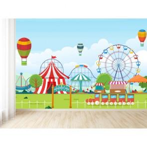 Renkli Lunapark - 3D Duvar Kağıdı Uygulama