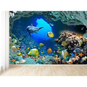 Derinlerdeki Balıklar - 3D Duvar Kağıdı Uygulama
