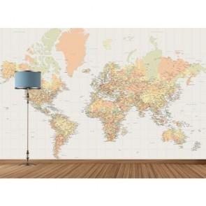 Dünya Turu Harita Duvar Kağıdı