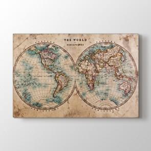 Yarım Küreler - Ofis Duvar Dekor Kanvas Tablo