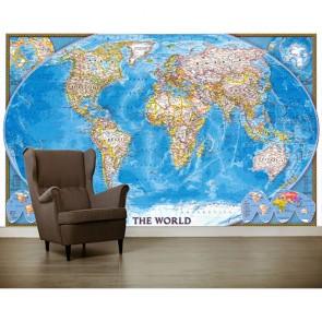 Dünya - Resimli Dekoratif Duvar Kağıdı