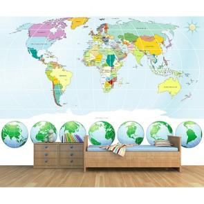 Her Açıdan Dünya - Resimli İthal Duvar Kağıtları