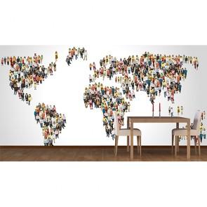Dünya İnsanları - Duvar Sticker ve Duvar Resimleri